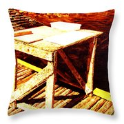 Antique Splitting Table Throw Pillow