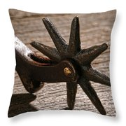 Antique Star Spur Throw Pillow