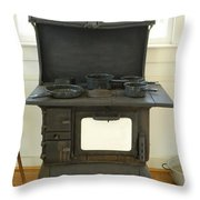Antique Stove Number 2 Throw Pillow