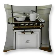 Antique Stove Number 3 Throw Pillow