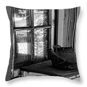 Antique Stove On Porch Throw Pillow