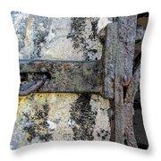 Antique Textured Metalwork Gate Throw Pillow