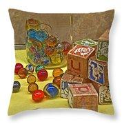 Antique Toys Throw Pillow