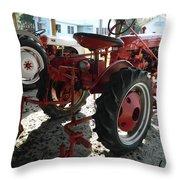 Antique Tractor Hiding In The Shadows Throw Pillow