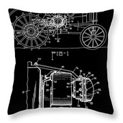 Antique Tractor Patent Throw Pillow