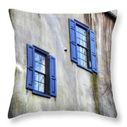 Antique Twins Throw Pillow