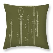 Antique Veterinary Instrument Patent 1888 Throw Pillow