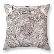 Antique Vintage Map With Elements Beautiful Throw Pillow
