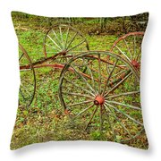 Antique Wagon Frame Throw Pillow