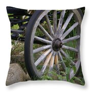 Antique Wagon Wheel  Throw Pillow