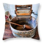Antique Washing Machine Throw Pillow