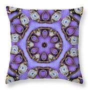 Antique Watch Kaleidoscope Throw Pillow