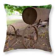 Antique Water Tank - No 1 Throw Pillow