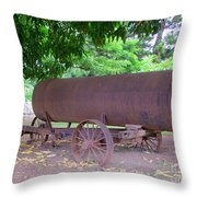 Antique Water Tank - No 2 Throw Pillow