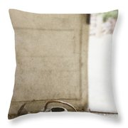 Antique Watering Throw Pillow