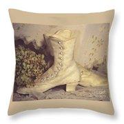 Antique Wedding Shoes Throw Pillow