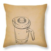 Antique Westinghouse Coffee Maker Patent 1964 Throw Pillow