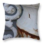 Antique White Throw Pillow