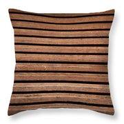 Antique Wood Texture Throw Pillow