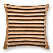 Antique Wooden Shutter Throw Pillow