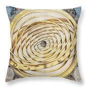 Antique Zodiacal Planetarium Throw Pillow