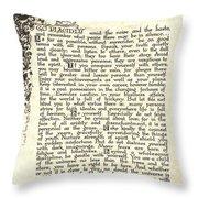 Antiqued Charcoal Desiderata Throw Pillow