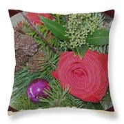 Antiqued Rose Bouquet  Throw Pillow