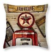 Antiques And Junque Throw Pillow