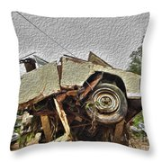 Antiques Broken Throw Pillow by Crystal Harman
