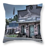 Antiques In Drytown Throw Pillow
