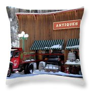 Antiques In The Mountains Throw Pillow