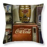 Antiques - Murray's Root Beer And Coca Cola Throw Pillow