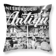 Antiques - Old And New Throw Pillow
