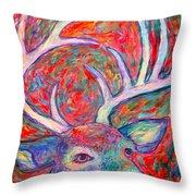 Antler Swirl Throw Pillow