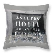 Antler's Hotel Front Door Ghost Town Victor Colorado 1971 1971-2013 Throw Pillow