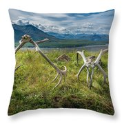 Antlers On The Hill Throw Pillow