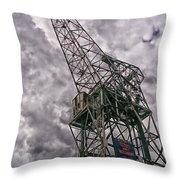 Antwerp Crane Throw Pillow