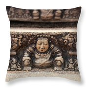 Anuradhapura Carving Throw Pillow by Jane Rix