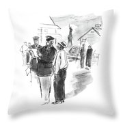 Any Place To Get Postcards Around Here? Throw Pillow