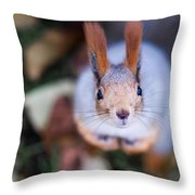 Anyting To Bite - Featured 3 Throw Pillow