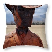 Anza Borrego Cowboy Throw Pillow