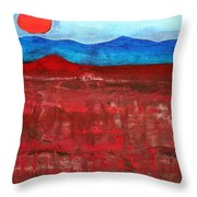 Anza-borrego Vista Original Painting Throw Pillow