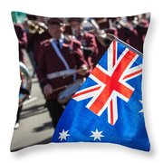 Anzac Day In Perth  Throw Pillow
