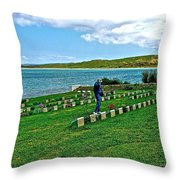 Anzak Cemetery Along The Dardenelles In Gallipolii-turkey Throw Pillow