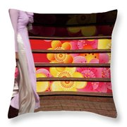 Ao Dai Throw Pillow