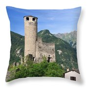 Aosta Valley - Chatelard Ruins Throw Pillow