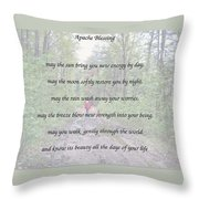 Apache Blessing With Photo Throw Pillow
