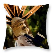 Apache Dancer Throw Pillow