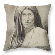 Apache Girl 1906 Throw Pillow