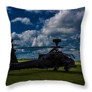Apache Gun Ship Throw Pillow